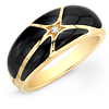 Onyx and Yellow Gold Ring