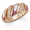 Pink Mother of Pearl and Rose Gold Ring